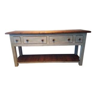 English Light Blue Sofa Server Table For Sale