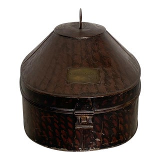 Tole Hat Box, England 19th Century For Sale