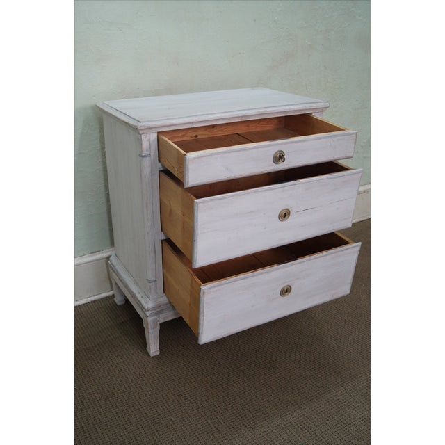 Antique Swedish Pine Distressed Commode Chest - Image 5 of 10