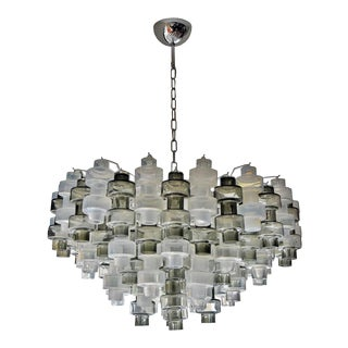 Manubri Smoked Glass Chandelier For Sale