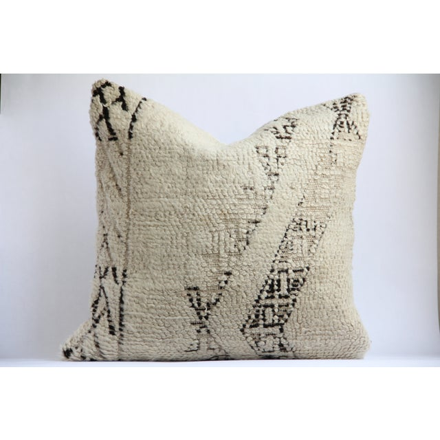 Moroccan Vintage Beni Ourain Pillow - Image 2 of 6