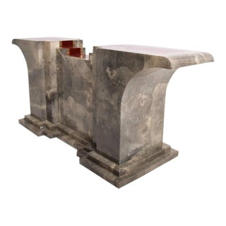 Goatskin Console Table After Aldo Tura For Sale