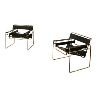 Authentic Marcel Breuer/Knoll Wassily Chairs - A Pair For Sale