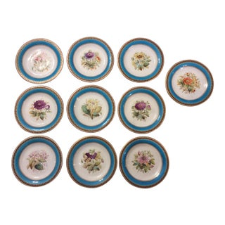 19th Century Bavarian Luncheon Plates - Set of 10 For Sale