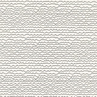 Sample - Schumacher Waves Wallpaper in Black & White For Sale