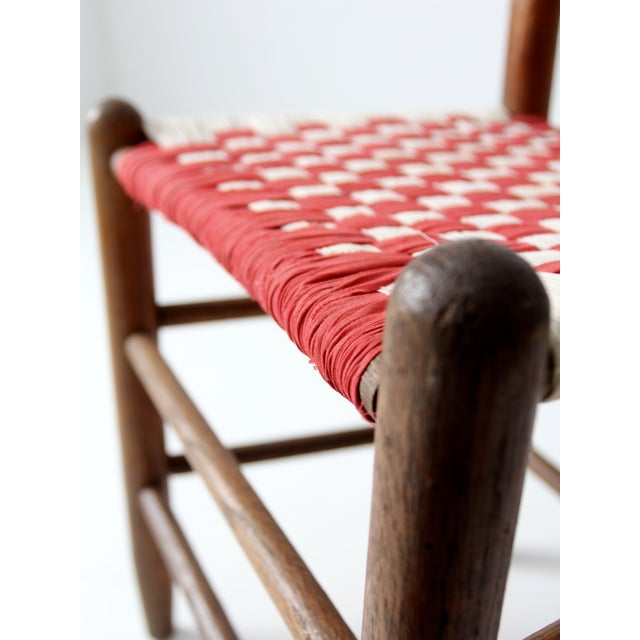 Ladder Back Chair with Woven Fabric Seat - Image 8 of 9