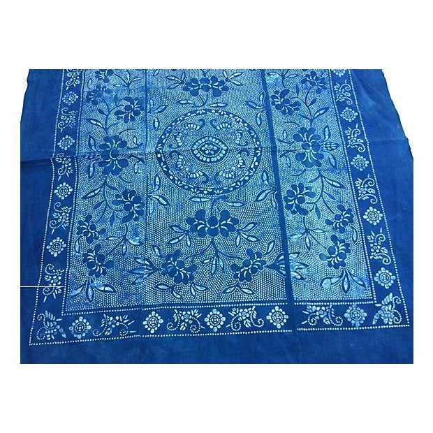 Vintage Indigo Batik Panel - Image 2 of 7