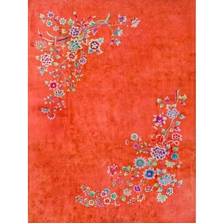 Antique Chinese Art Deco Rug For Sale