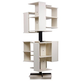 Rotating Wooden Bookshelf by Claudio Salocchi for Sormani, Italy For Sale