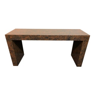 1970s Contemporary Veneer Console Table For Sale