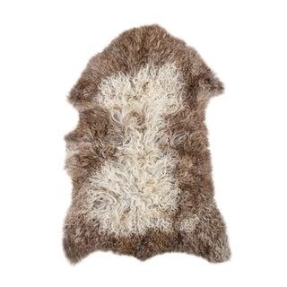 """Contemporary Long Wool Sheepskin Pelt, Handmade Rug - 2'3""""x3'1"""""""