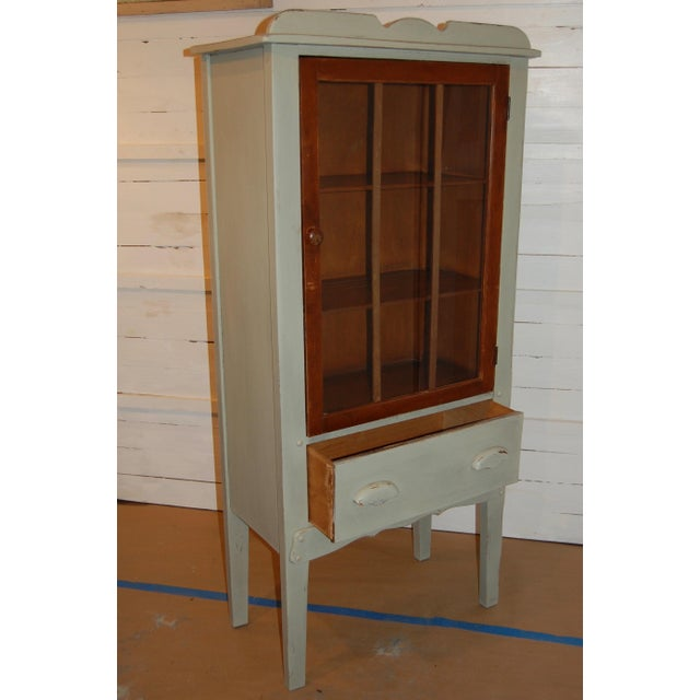 Antique Painted Display Cabinet - Image 7 of 10