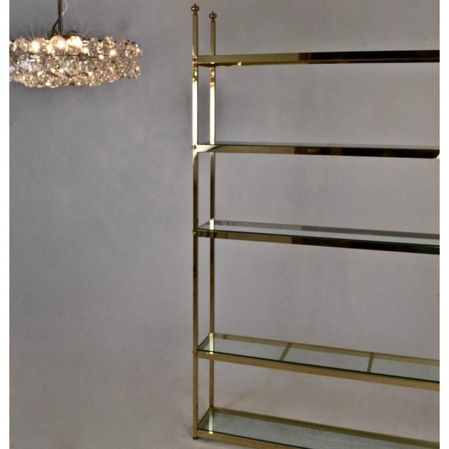 Brass Étagère For Sale In New York - Image 6 of 7