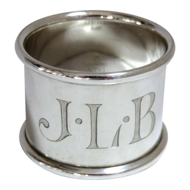 1937 Vintage Towle Silversmiths Sterling Silver Napkin Ring For Sale
