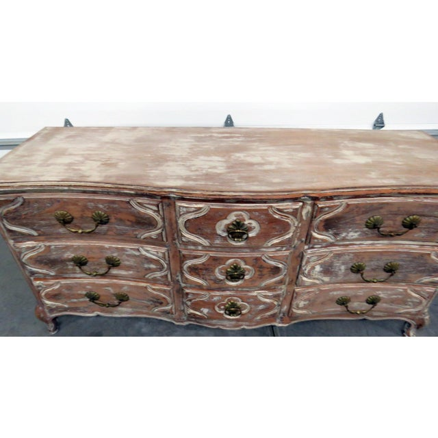 Auffray Country French Distressed Painted Dresser For Sale In Philadelphia - Image 6 of 12