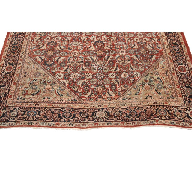 Early 20th Century Antique Persian Mahal Rug-8′9″ × 10′5″ For Sale - Image 4 of 11