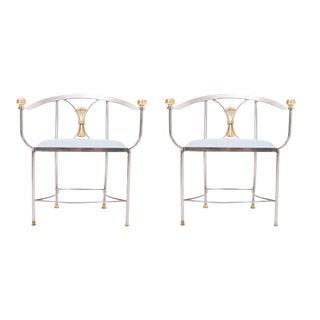 Pair of Alberto Orlandi Savonarola Chairs