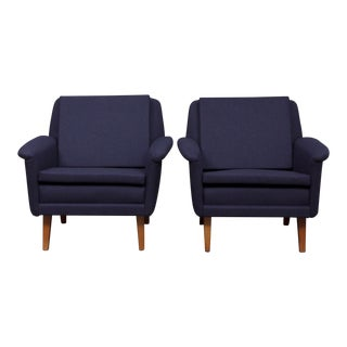 1960s Mid-Century Modern Folke Olshsson for Fritz Hansen Armchairs For Sale