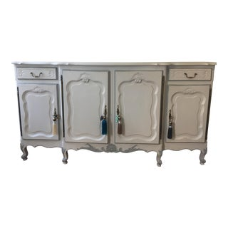 Antique French Sideboard Restored Painted Grey