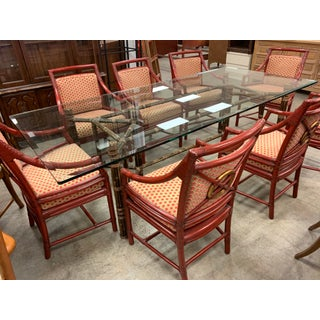 Hollywood Regency McGuire Dining Set - 9 Pieces Preview