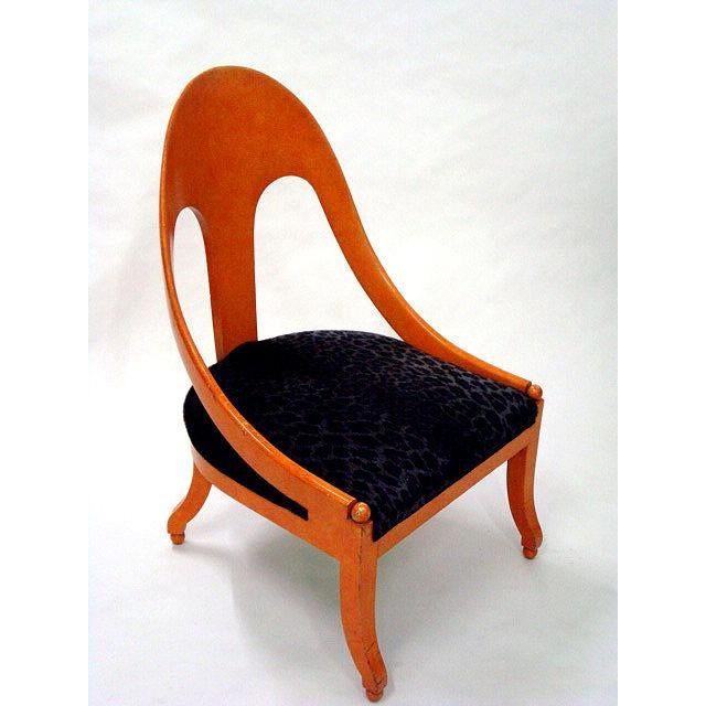 1960s Michael Taylor for Baker Neoclassic Spoonback Chairs - a Pair For Sale - Image 5 of 9