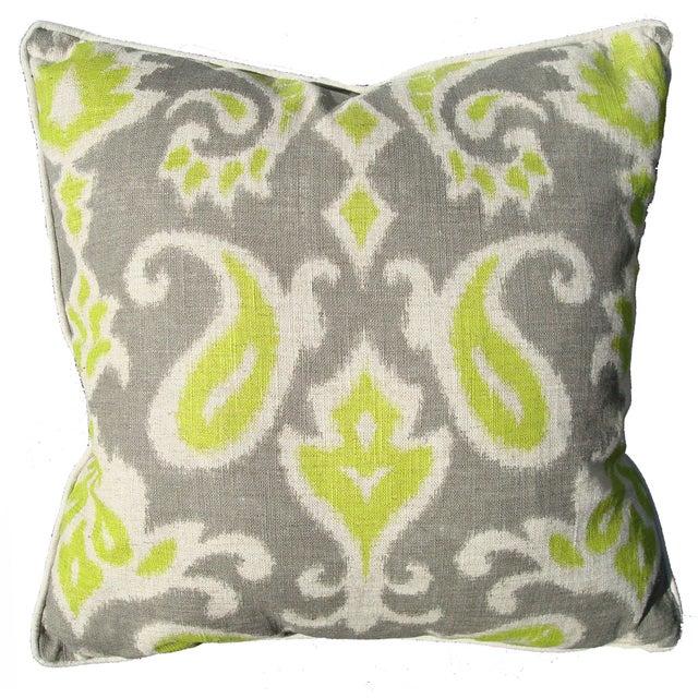 Ikat Linen Pillow For Sale
