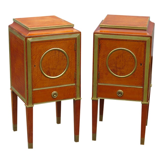 Pair of Russian Baltic Style Nightstands For Sale