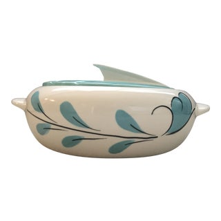 Cottage Vintage Mid Century Ceramic Decorative Bowl