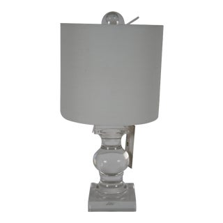 Trident Home Balustrade Glass Table Lamp For Sale