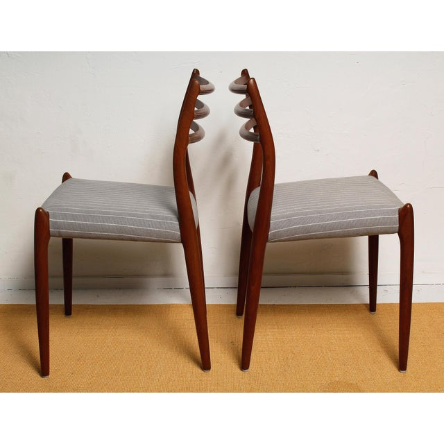 Fully Restored 1960s Teak Dining Chairs by Niels O. Møller-Set of 6 For Sale In Miami - Image 6 of 13