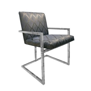 1970s Chrome Frame Dining Chair For Sale