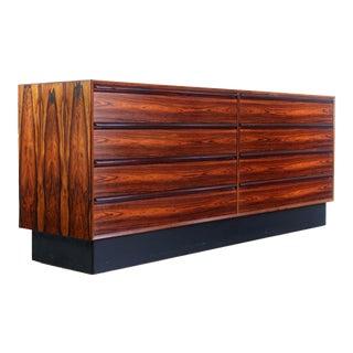1970s Mid Century Modern Westnofa Brasilia Rosewood Credenza/Dresser For Sale