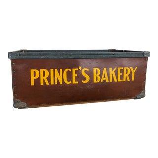 Vintage Industrial Fiberboard Prince's Bakery Storage Bin For Sale