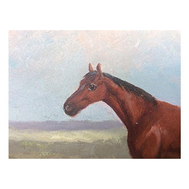 Traditional English Equestrian Horse Oil Painting For Sale - Image 3 of 3