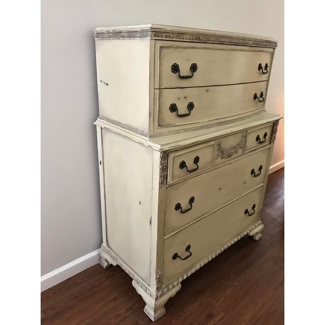 Country Grey French Tall Dresser - Image 6 of 8