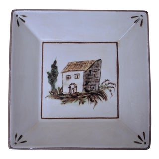 Williams Sonoma Hand-Painted Ceramic Serving Dish