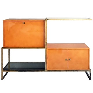 Exceptional Lacquer and Gilt Iron Secretary Cabinet by Roger and Robert Thibier For Sale