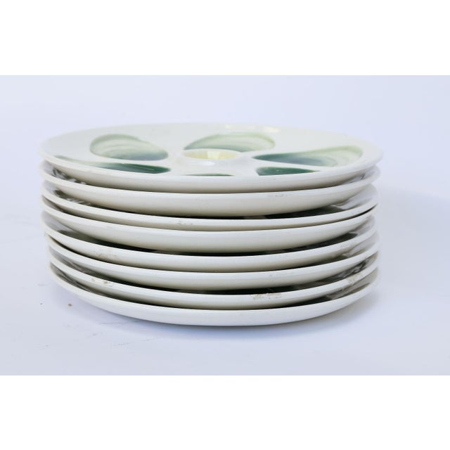 French Set of Eight French Oyster Plates For Sale - Image 3 of 8
