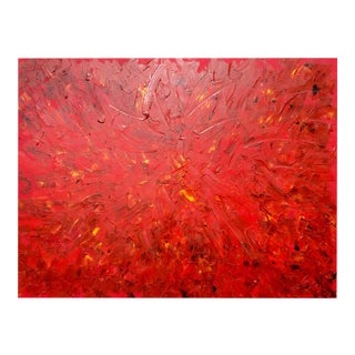 """""""Fireworks of Flowers"""", Original Abstract Oil Painting on Canvas by Tim Hovde For Sale"""