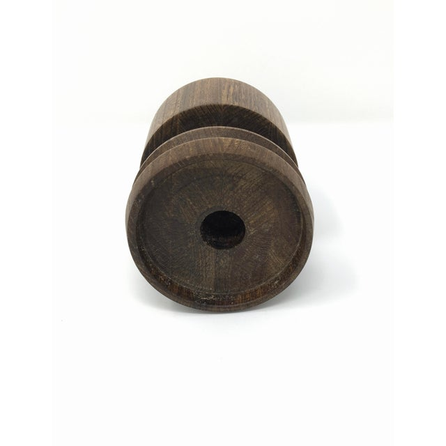 Mid-Century Modern Artisan Made Wood Candle Holder For Sale - Image 9 of 10
