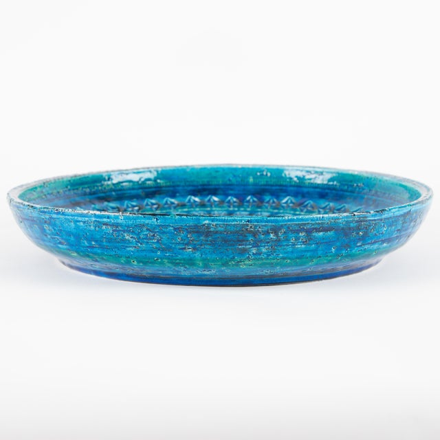 """Rimini Blu"" Ceramic Platter by Aldo Londi for Bitossi, Circa 1960s For Sale - Image 9 of 13"