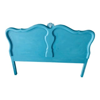 Coastal Living French Style Cherry Clamshell Headboard Full Size For Sale