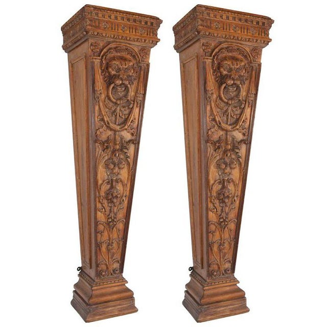 19th C. English Pine Pedestals For Sale - Image 4 of 4