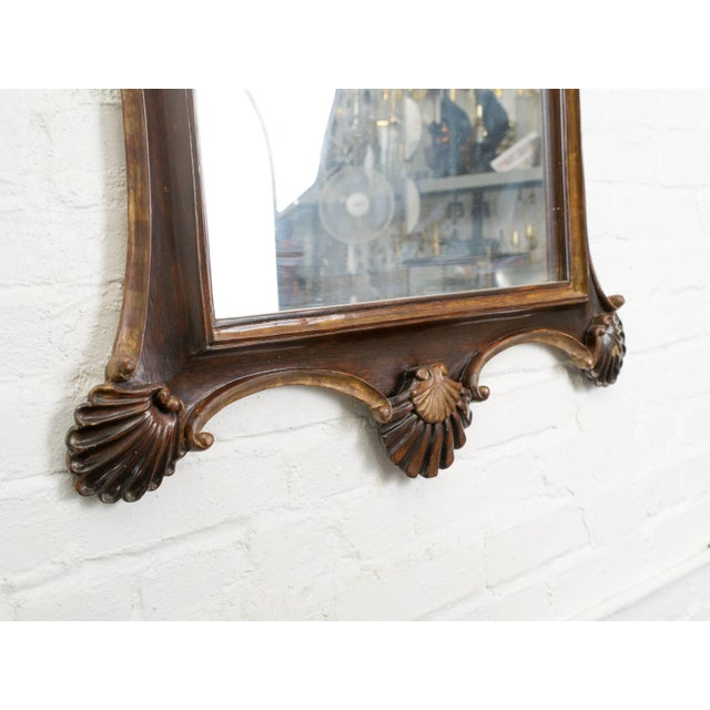 Gold Antique Italian Giltwood Rococo Mirror For Sale - Image 8 of 9