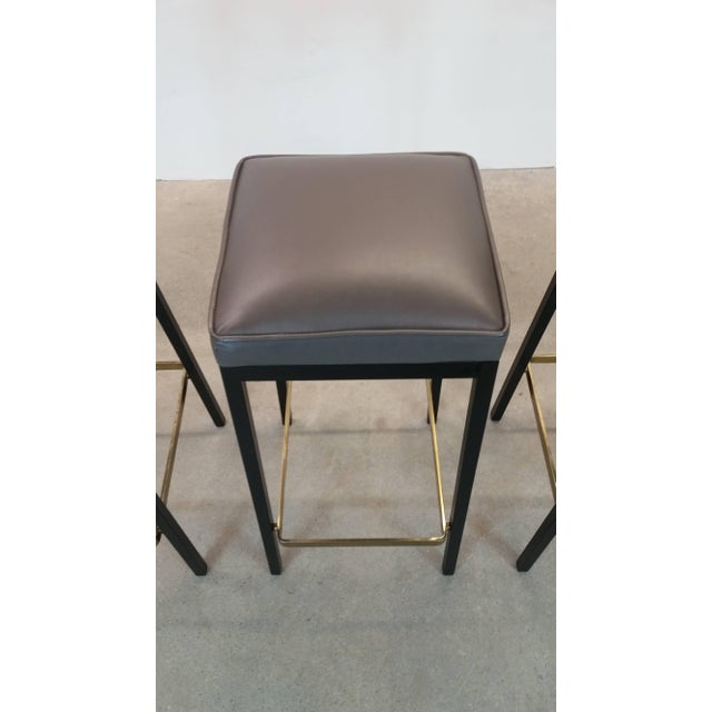 Early Bar Stools by Florence Knoll For Sale - Image 5 of 9