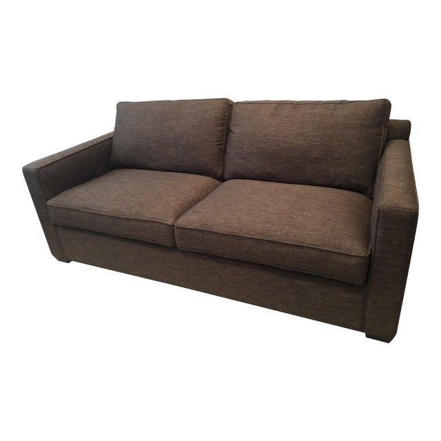 Modern Crate and Barrel Davis Queens Sleeper Sofa For Sale