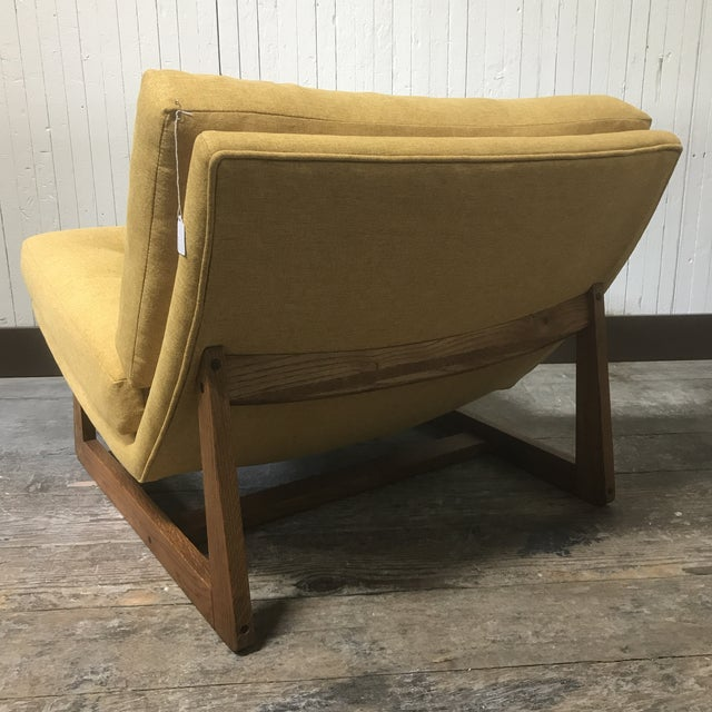 Mid-Century Modern Sled Base Lounge Chairs - A Pair - Image 7 of 11