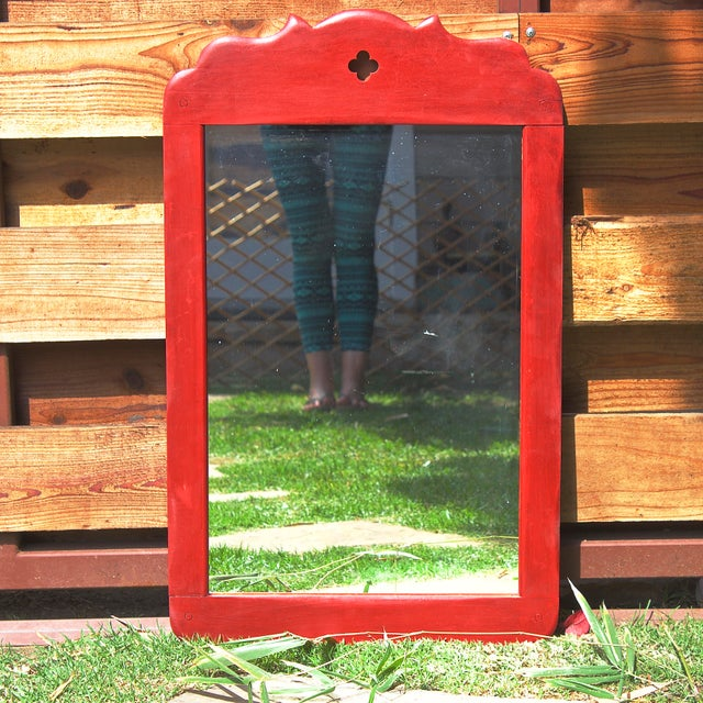 1930s Rancho Monterey Painted Mirror - Image 2 of 4