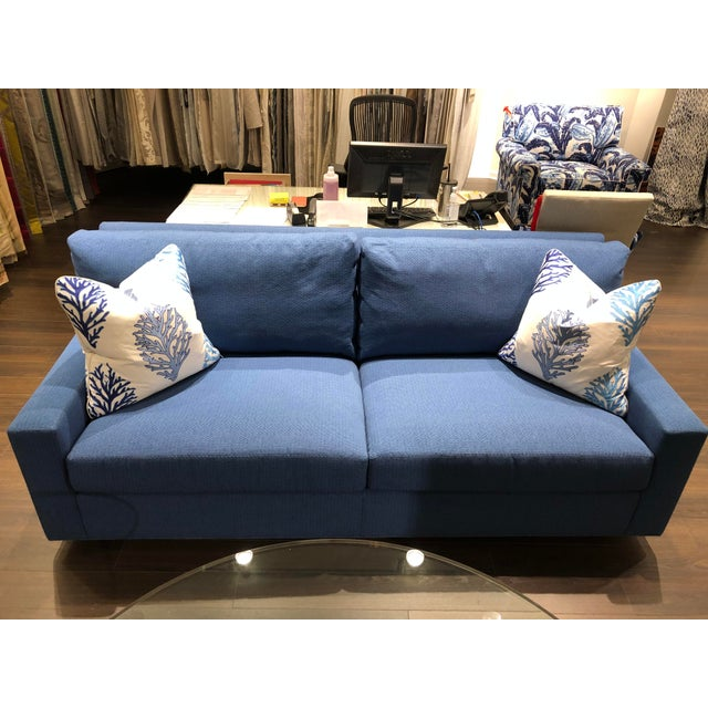 Blue 21st Century Scalamandre Sofa For Sale - Image 8 of 9