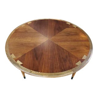 "Danish Modern Round Lane ""Dovetail"" Acclaim Coffee Table For Sale"